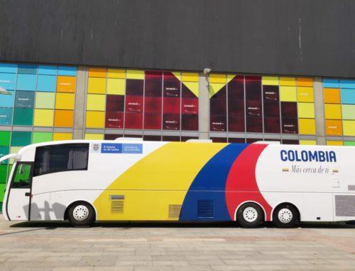 El consulado móvil de Colombia en la Feria del Emprendimiento